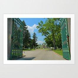 Calvary Cemetery Gate II Art Print