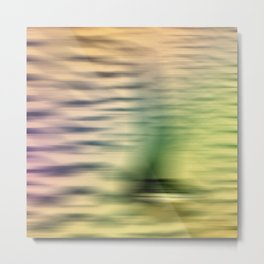 Safari Bird Abstract Metal Print