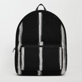 Skinny Strokes Gapped Vertical Off White on Black Backpack