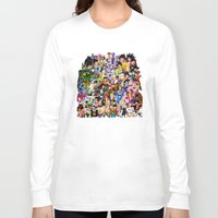 dragonball z Long Sleeve T-shirts featuring DragonBall Z - Insane amount of Characters by Mr. Stonebanks