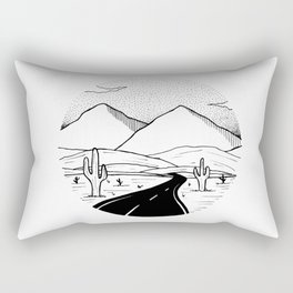 On the way to the desert Rectangular Pillow