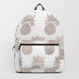 Rose gold pineapples Backpack