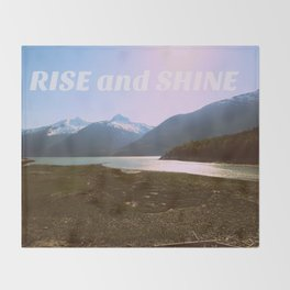 Rise and Shine   Colorful Mountain landscape Throw Blanket