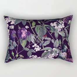Rose Garden - Night II Rectangular Pillow