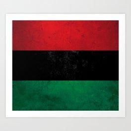 Distressed Afro-American / Pan-African / UNIA flag Kunstdrucke