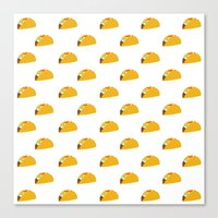 taco Canvas Prints featuring Taco Taco by Hello Sleepywhale