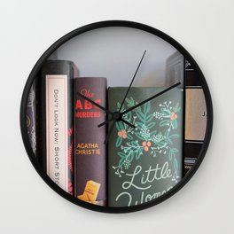 Shelfie in Black Wall Clock
