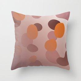 simple choco Dots Throw Pillow