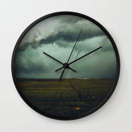 Tornado Alley (Color) Wall Clock