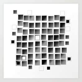Pixel  Fashion 03 Art Print