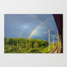 The railway into the dream Canvas Print