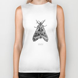 Cabbage Moth [Mamestra brassicae] Biker Tank