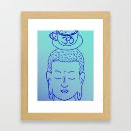 Teatime with Buddha Framed Art Print