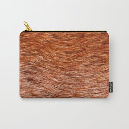 Red fox fur pelt texture cloth abstract Carry-All Pouch