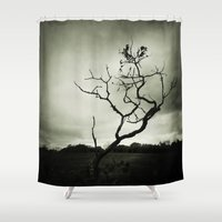 alone Shower Curtains featuring ALONE by Christina Lynn Williams