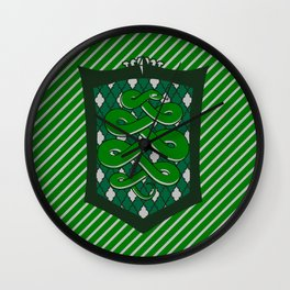 HP Slytherin House Crest Wall Clock