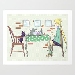 Sailor Tea Party Art Print