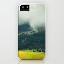 Foggy Morning Meadow iPhone Case