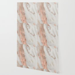 Marble Rose Gold Shimmery Marble Wallpaper