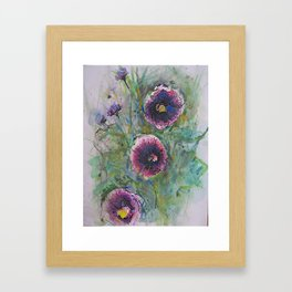 """Hollyhock Blossoms"" Framed Art Print"