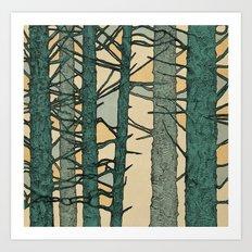 Green Trees Art Print