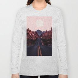 Road Red Moonrise Long Sleeve T-shirt