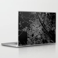 vienna Laptop & iPad Skins featuring Vienna map by Line Line Lines