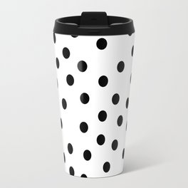 Simply Dots in Midnight Black Travel Mug