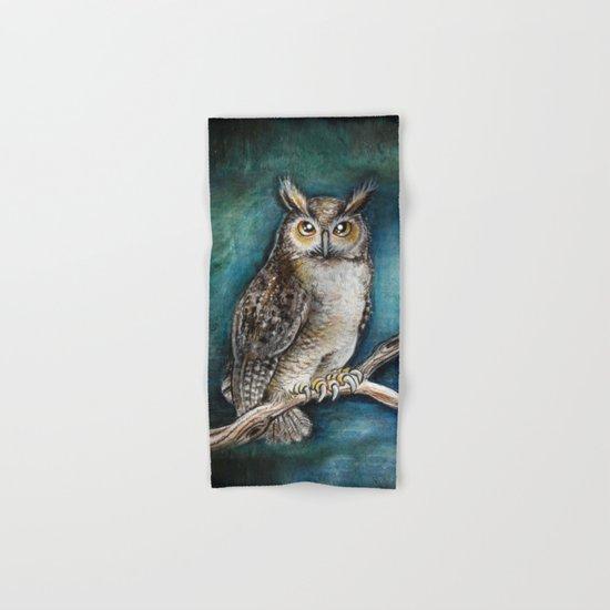 Moon Owl Hand & Bath Towel
