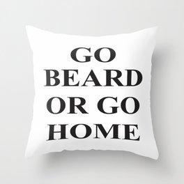 Go Beard Throw Pillow