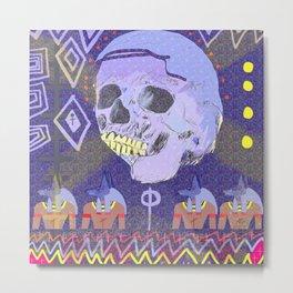 Happy Skull Anubis Metal Print