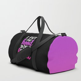 I Put The Hood In MotherHood, Funny, Mom, Quote Duffle Bag