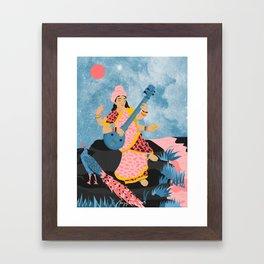 Saraswati Framed Art Print