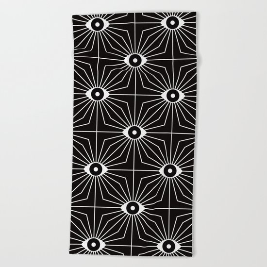 KALEIDOSCOPE EYES Beach Towel