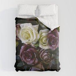 Roses Dark Moody Old Masters Comforters