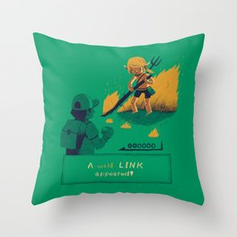 a wild link appeared Throw Pillow