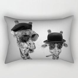 Giraffe gangsters Rectangular Pillow
