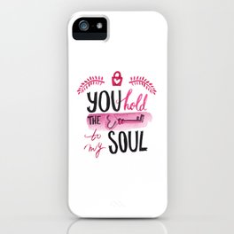 You hold the key to my soul iPhone Case