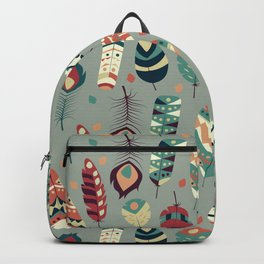 Tribal feather pattern 008 Backpack