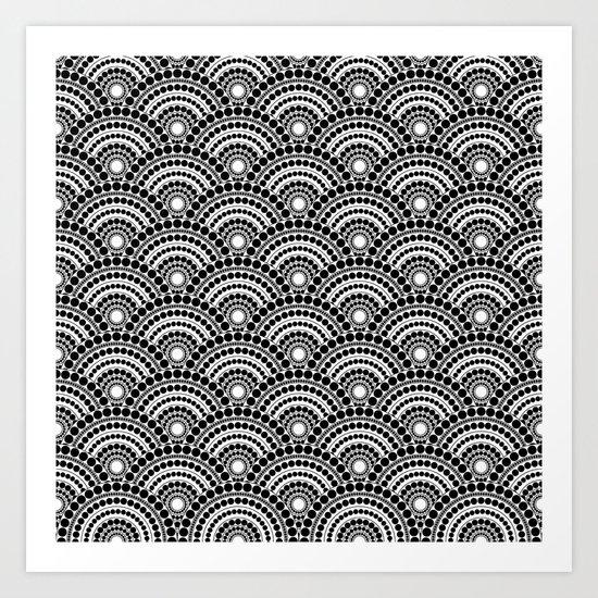 BLACK AND WHITE GEOMETRIC (abstract) Art Print
