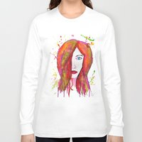 valentina Long Sleeve T-shirts featuring Valentina by Laurie Art Gallery