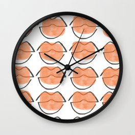 Koral kiss Wall Clock