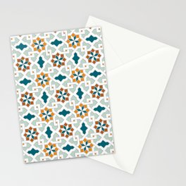 Geometric Pattern, oriental style (nature color set)  traditional morocco tile pattern Stationery Cards