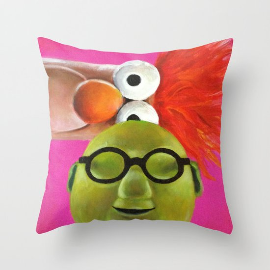 The Muppets - Bunsen and Beaker Throw Pillow