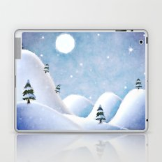 Winter Landscape Under Full Moon Laptop & iPad Skin