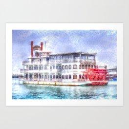 New Orleans Paddle Steamer Art Art Print
