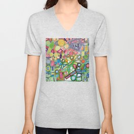 Cheerful Colorful Collection Unisex V-Neck
