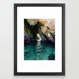 Colorful Ocean Cave Framed Art Print