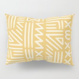 Mudcloth in yellow ochre Pillow Sham