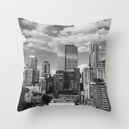 Seattle Industry BW Throw Pillow